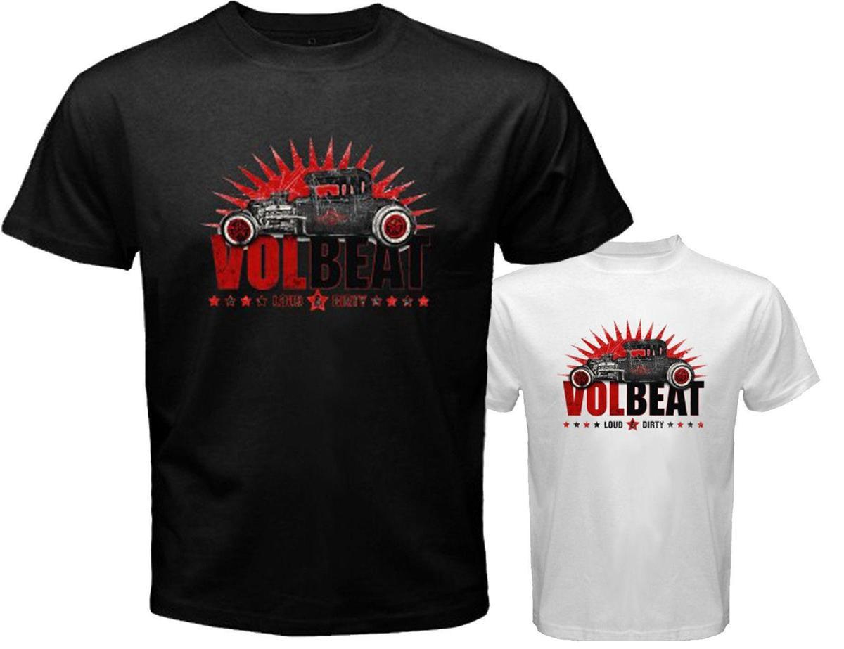 181ddf59555f New VOLBEAT Loud and Dirty Rock Band Men's White Black T-Shirt Size S to 3XL