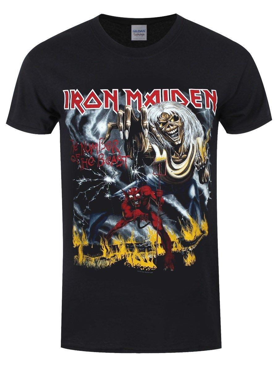 e85522391d Iron Maiden Number Of The Beast Men's Black T-shirt Online with ...