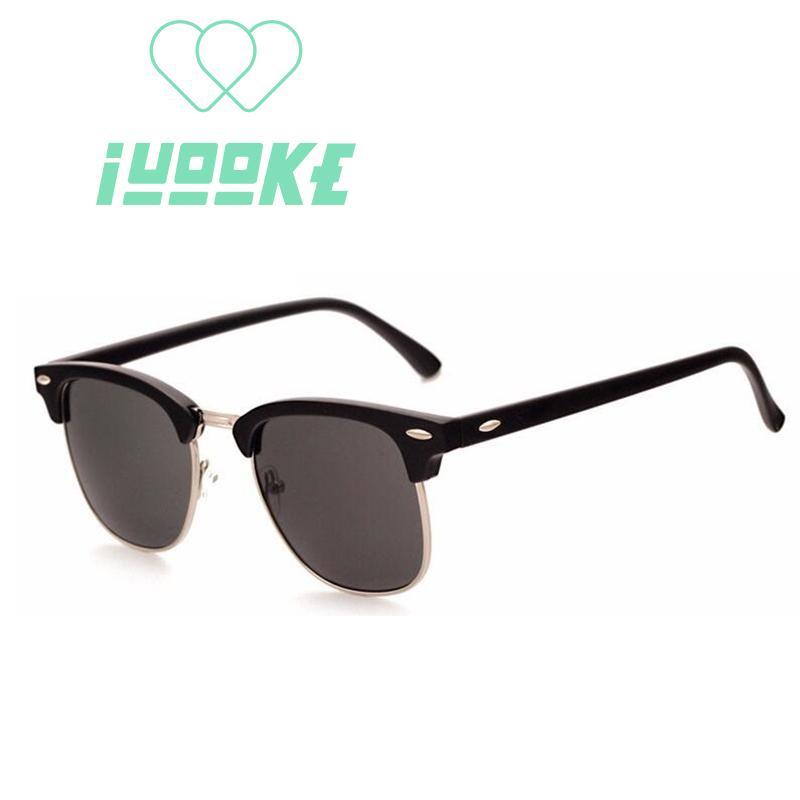 Iuooke 2018 Half Metal High Quality Sunglasses Men Women Brand Designer  Glasses Mirror Fashion Gafas Oculos De Sol UV400 Classic Eyeglasses  Sunglasses Hut ... 16c6cc7f72