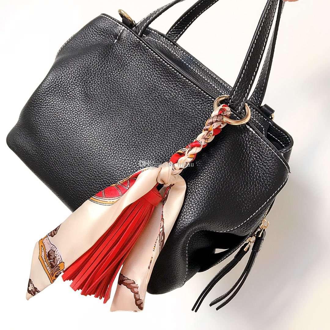Новая мода пакет ташилки подвеска горячая распродажа мини шелковый шарф с кожаными украшениями женские сумки должны быть сопоставлены