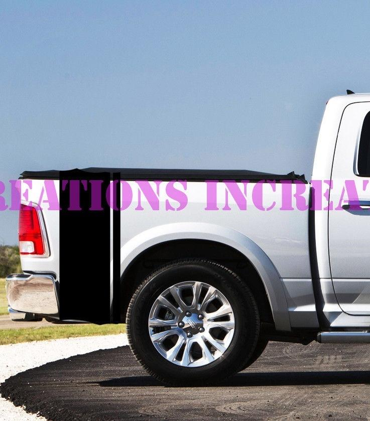 For Universal 1set 2pcs Dodge Chevy Ford Rear Bed Stripes Truck Decals Stickers Set Of 2 Racing