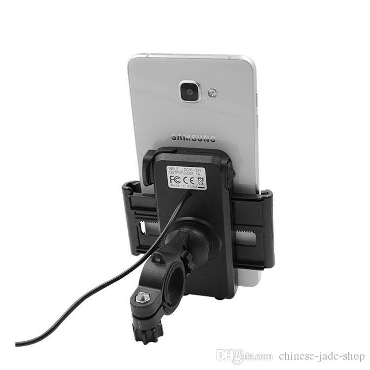 2 in 1 IP65 Waterproof Motorcycle Cell Phone Mount Holder with 5V 2.4A USB Charger Power Switch 4.5FT Power Cable UCH-01 IN RETAIL
