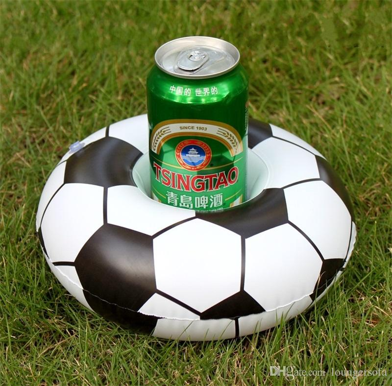 Cartoon Football Inflation Saucer 2018 Russia World Cup Water Drinks Floating Cup Seat Coaster Fashion Swimming Pool Toys Holder 2 5jx Y