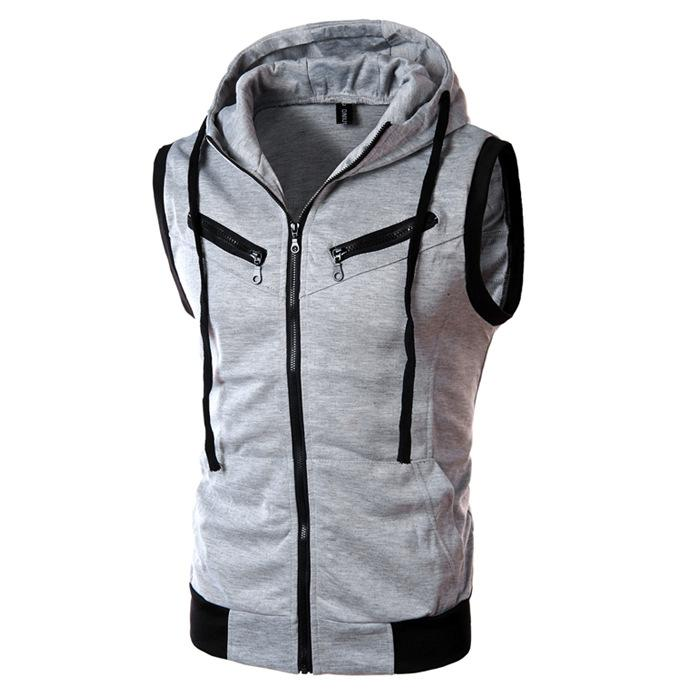 d7906759d 2017 New Arrival CosMaMa brand clothing fashion mens hooded summer cotton  biker sleeveless casual jacket slim fit front zip