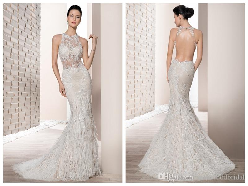 compre 2018 vestidos de novia robe de mariée demetrios 711 marfil