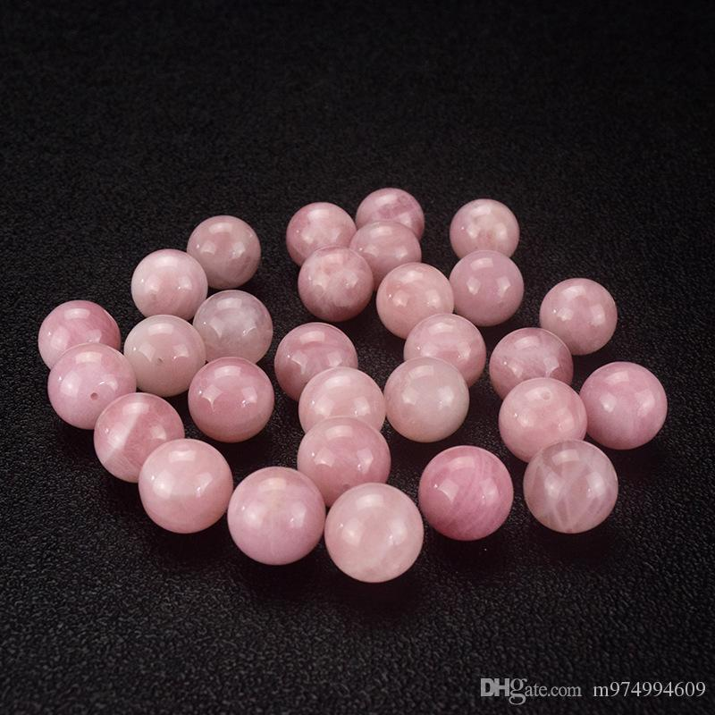 1 Strang natürliche rosa Stein Kristall Halbedelsteine Kugeln Rosenquarz Runde lose Perlen Halskette Armband DIY Schmuck