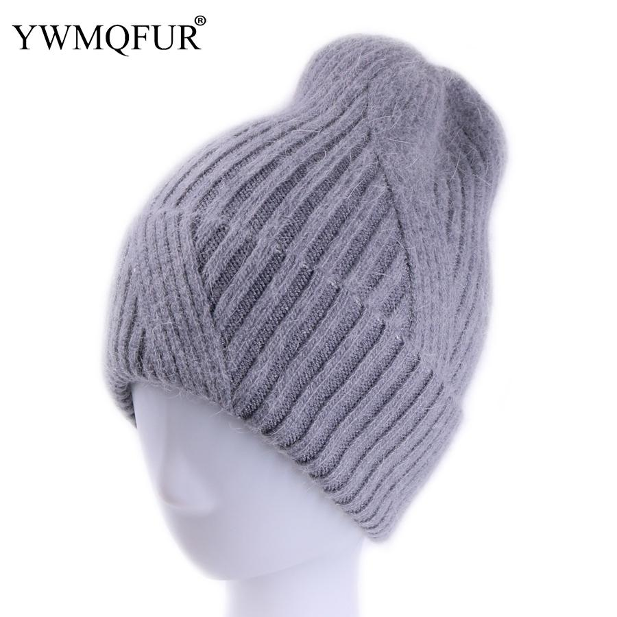 YWMQFUR New Style Women Winter Hats Thick Warm Skullies Lady Hat Solid  Vintage Rabbit Fur Velvet Female Leisure Beanies Caps Knit Cap Slouch Beanie  From ... ed02e7c8045