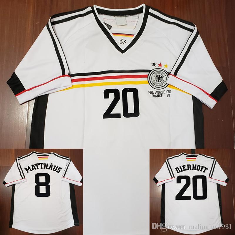 Velvet Name Number 1998 Germany Matthaus Klinsmann Bierhoff Retro ... 6b504a73fc70c