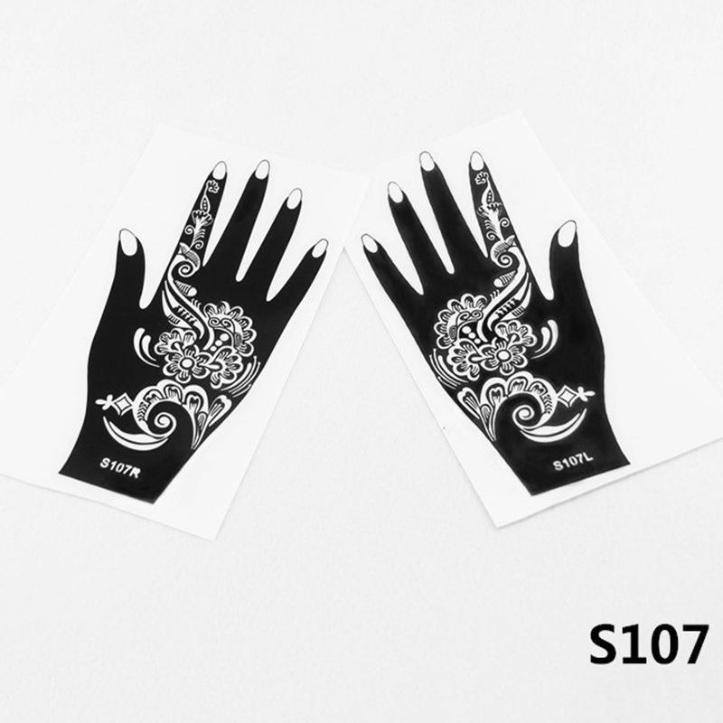 Großhandel 2 Teile Satz Henna Tattoo Vorlagen Henna Tattoos