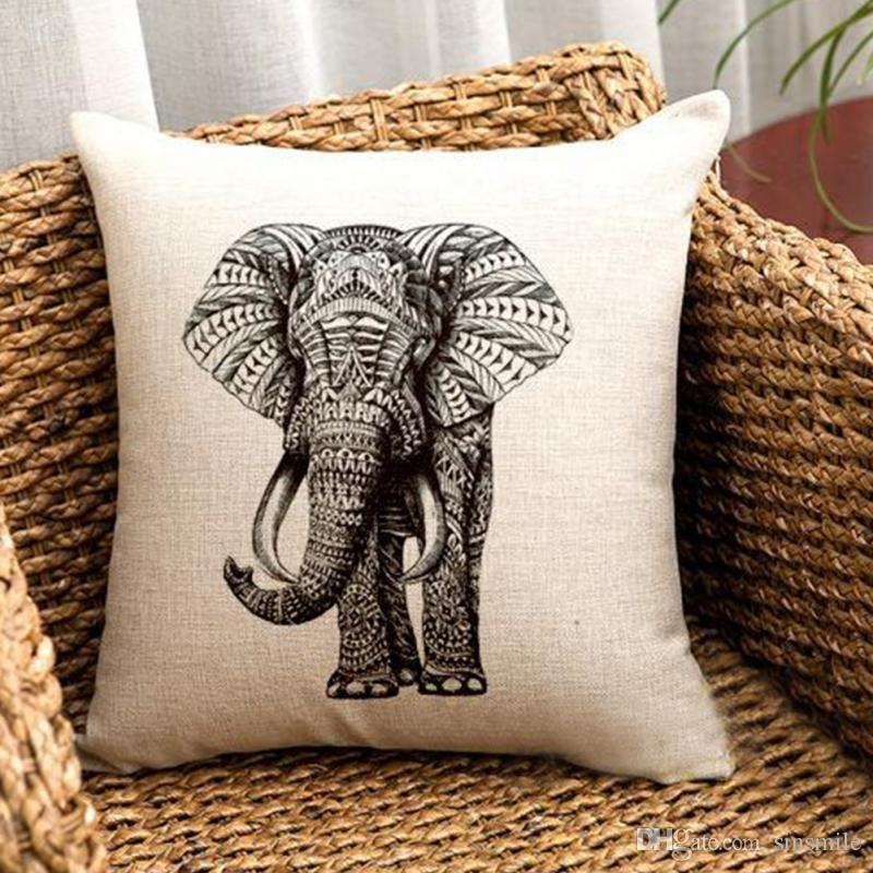 Wholesale Best Promotion Elephant Soft Waist Pillow Case Cotton Linen  Vintage Home Living Room Coffee House Yellow Pillow Cases Decorative Pillow  Cases From ... 5e13cc923