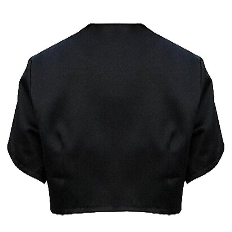 Hot selling products in 2019 New Arrival Elegant Wedding Satin Shrug Bolero Cap Sleeve Custom Made Bridal Jacket for Spring Autumn