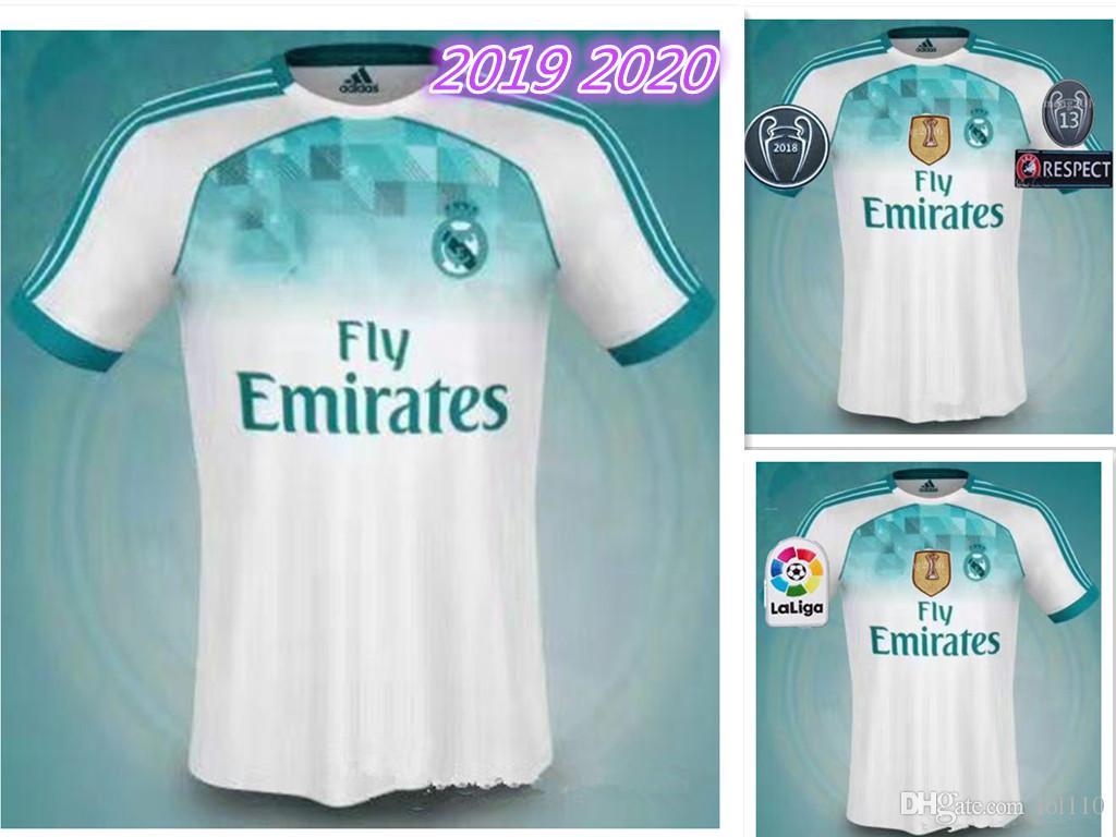 eb0da8edc7 Compre 2019 2020 Novo Real Madrid CASA De Futebol Jersey 8 KROOS 11 BALE 19  20 Real Madrid LONGO ASPAS Asensio Alarcon Benzema Camisas De Futebol De  Lol110