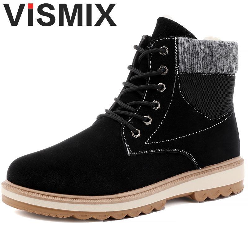 31a9c4d8b Compre Botas De Invierno Más Baratas Para Hombre Moda Flock De Piel Zapatos  De Invierno Para Hombre Botines De Cuero Cálido Casual Hombre Botas Hombre  A ...