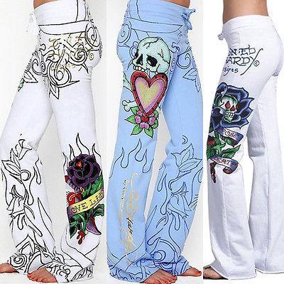 e18f6c34e7e Boho Womens Floral Print Palazzo Trousers Ladies Wide Leg Flared ...