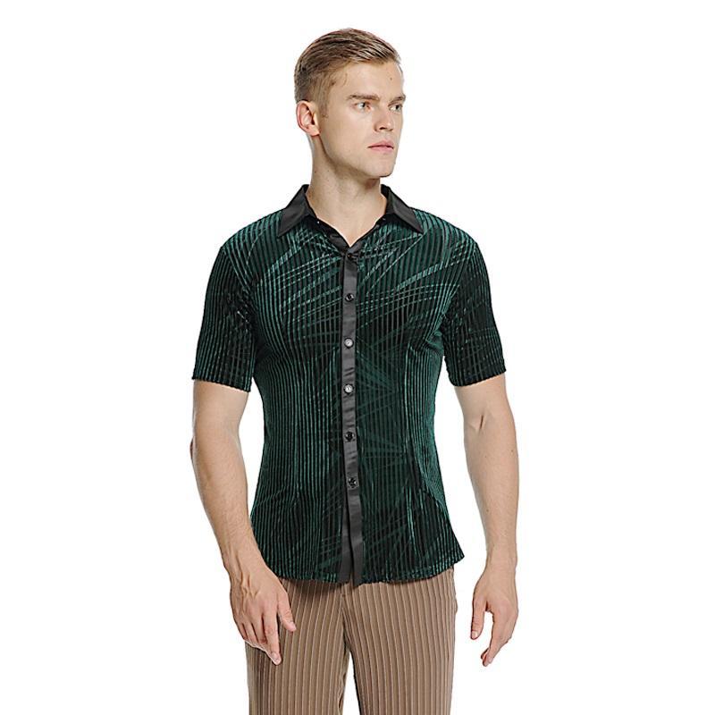 a47f3424 male short sleeves modern dance costumes men's adult training costume  standard dance shirt ballroom shirt latin shirts