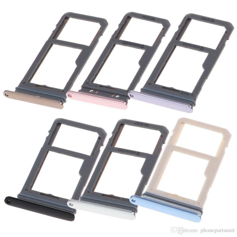 Dual/Single SIM Card Slot SD Card Tray Holder Adapter For Samsung Galaxy S8  G950 S8 Plus G955 G955F G955U