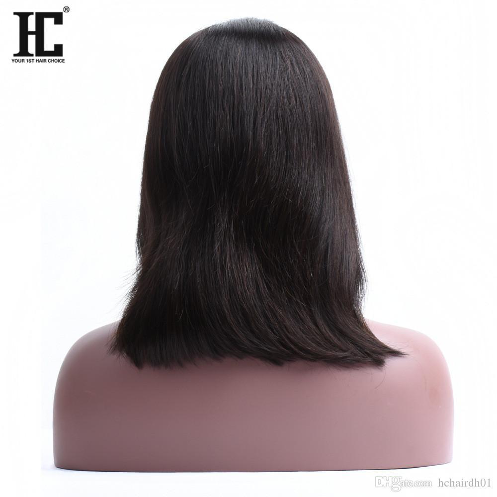 Parrucche Bob capelli umani 150% Brasiliano Capelli di Remy Anteriore parrucche di capelli umani Parrucche afro-americane le donne nere