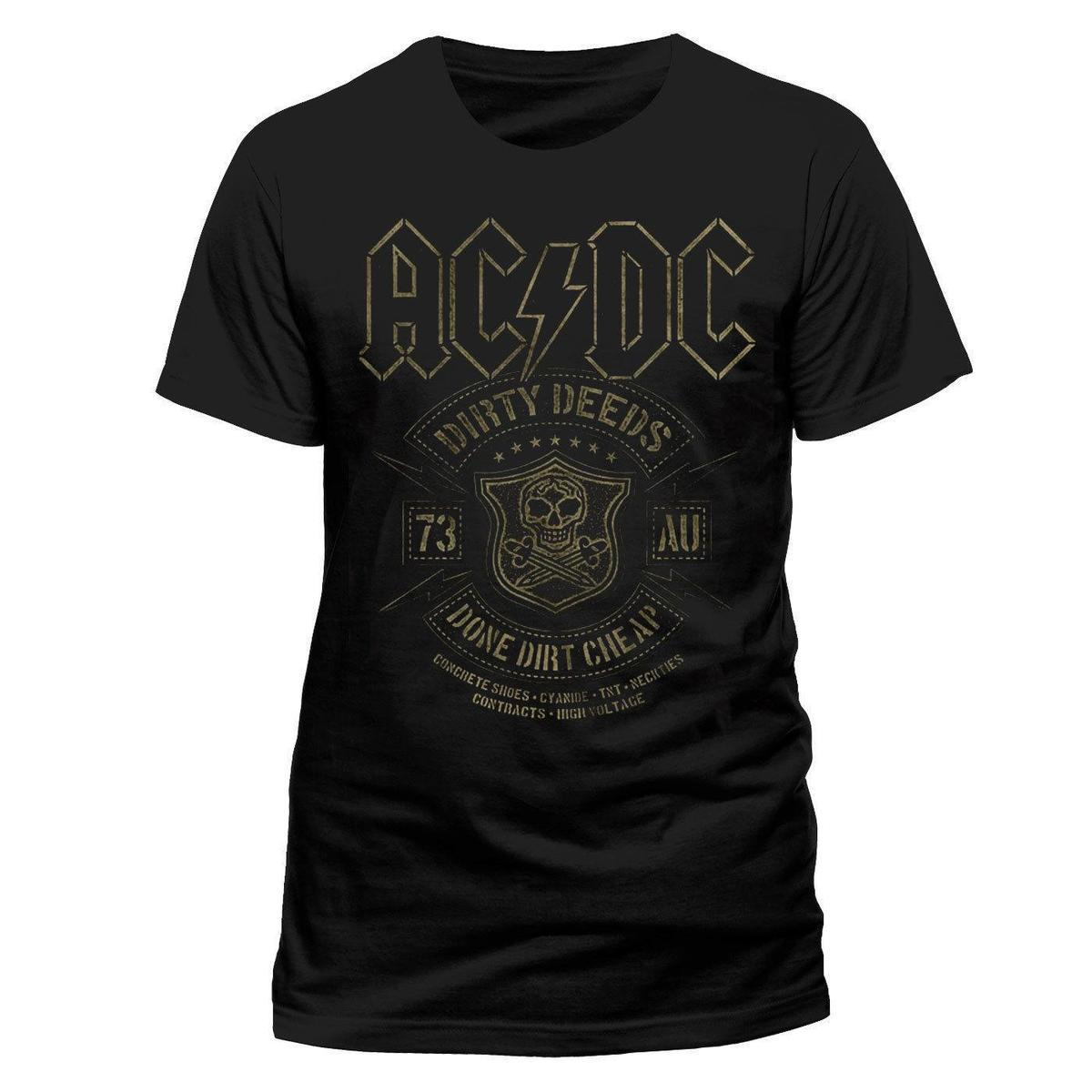 ACDC Official Dirty Deeds Done Pas Cher Rock Métal Lourd T Shirt Pour  Hommes Cute T Shirts Nerd T Shirts From Lijian045 e2b8ddac9d3