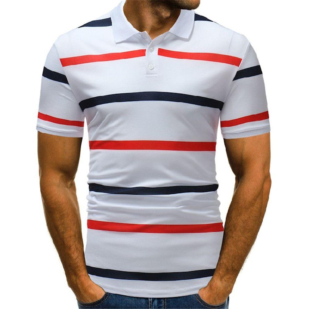 Sommer Gestreiften Schlank Polo-shirt Männer Hohe Qualität Marke Kurzarm Baumwolle Polo Shirts Business Casual Polo Homme Plus Größe Xxl Mutter & Kinder