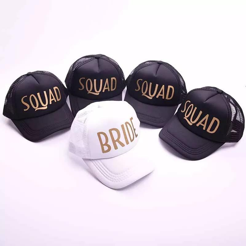 f6fa192ef7e 5pcs lot wholesales Team Bride Tribe SQUAD logo wedding bride to be  bachelorette hen party gifts Bridesmaid Gift Hats
