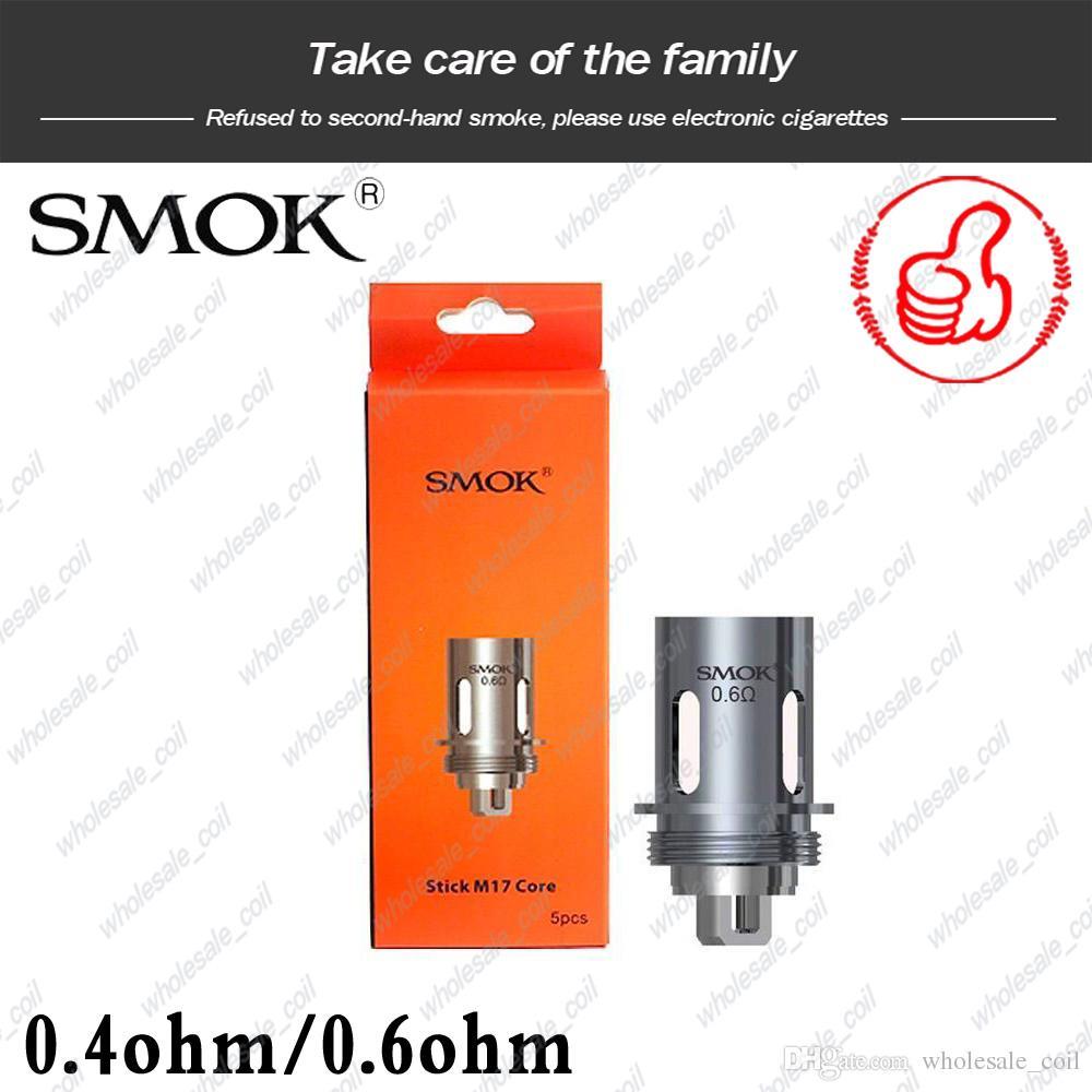 100% Autêntico SMOK Vara M17 Bobina de Substituição Da Cabeça Bobina 0.4ohm 0.6ohm Núcleo Duplo para M17 AIO Kit DHL Livre