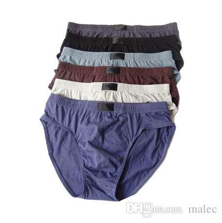 2a9f69c725d 2019 Plus Size Solid Men Briefs 100% Cotton Mens Bikini Underwear Panties  XXL/XXXL/4XL/5XL Breathable Sexy Cueca Masculina 2018 New From Malec, ...