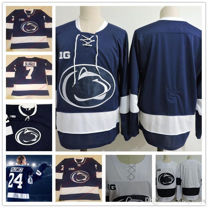 aae697cf0 Customized Penn State Nittany Lions College Hockey Jerseys  8 Chase ...