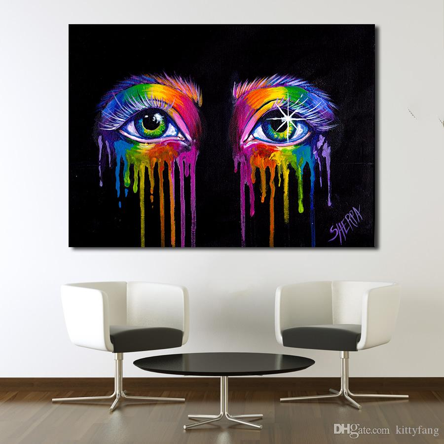1 Panel Abstract Eye Oil Painting Wall Art Canvas Decorative Living Room Printed Painting Wall Painting Picture No Frame