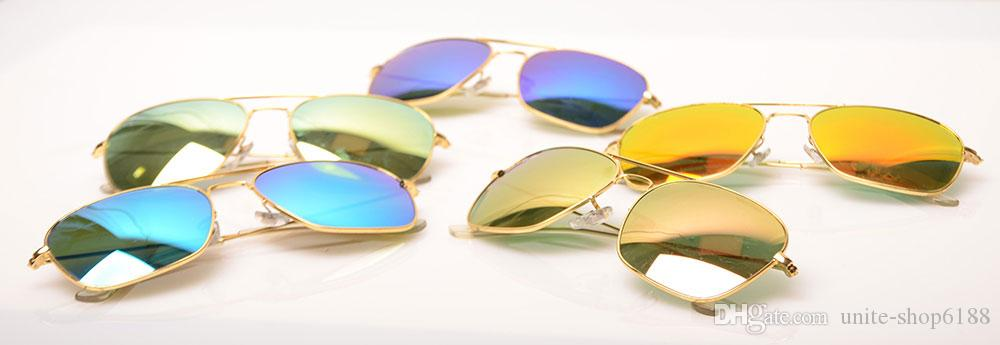 Free ship glasses 3136 Mirror sunglasses womens sunglasses fashion Brand Sun glasses design mens sunglasses glass lens With case and boxs