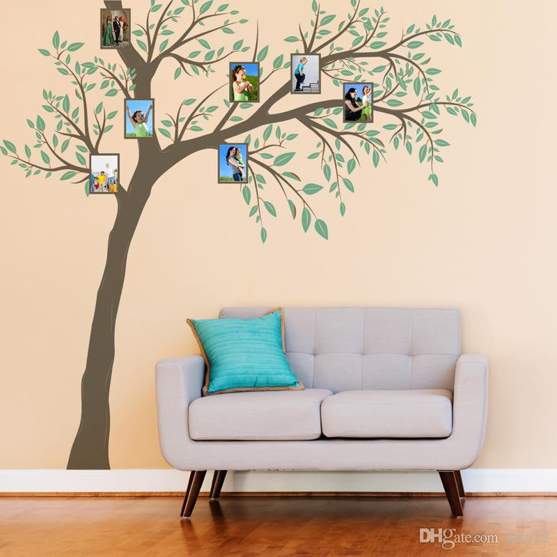 Large Size Family Photo Frames Tree Wall Stickers DIY Home Decoration Wall Decals Modern Art Murals for Living Room