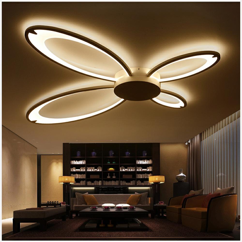 Acrylique Moderne Led Plafonniers Pour Salon Chambre Salle A Manger Accueil Plafonnier Lampe Luminaires Livraison Gratuite