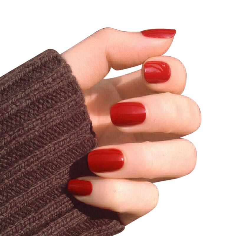 Short False Nails Tips Fake Nails Design Fashion Beauty Press On
