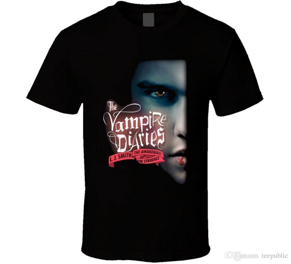 Online T Shirt Design The Vampire Diaries Book Logo T Shirt Mens O