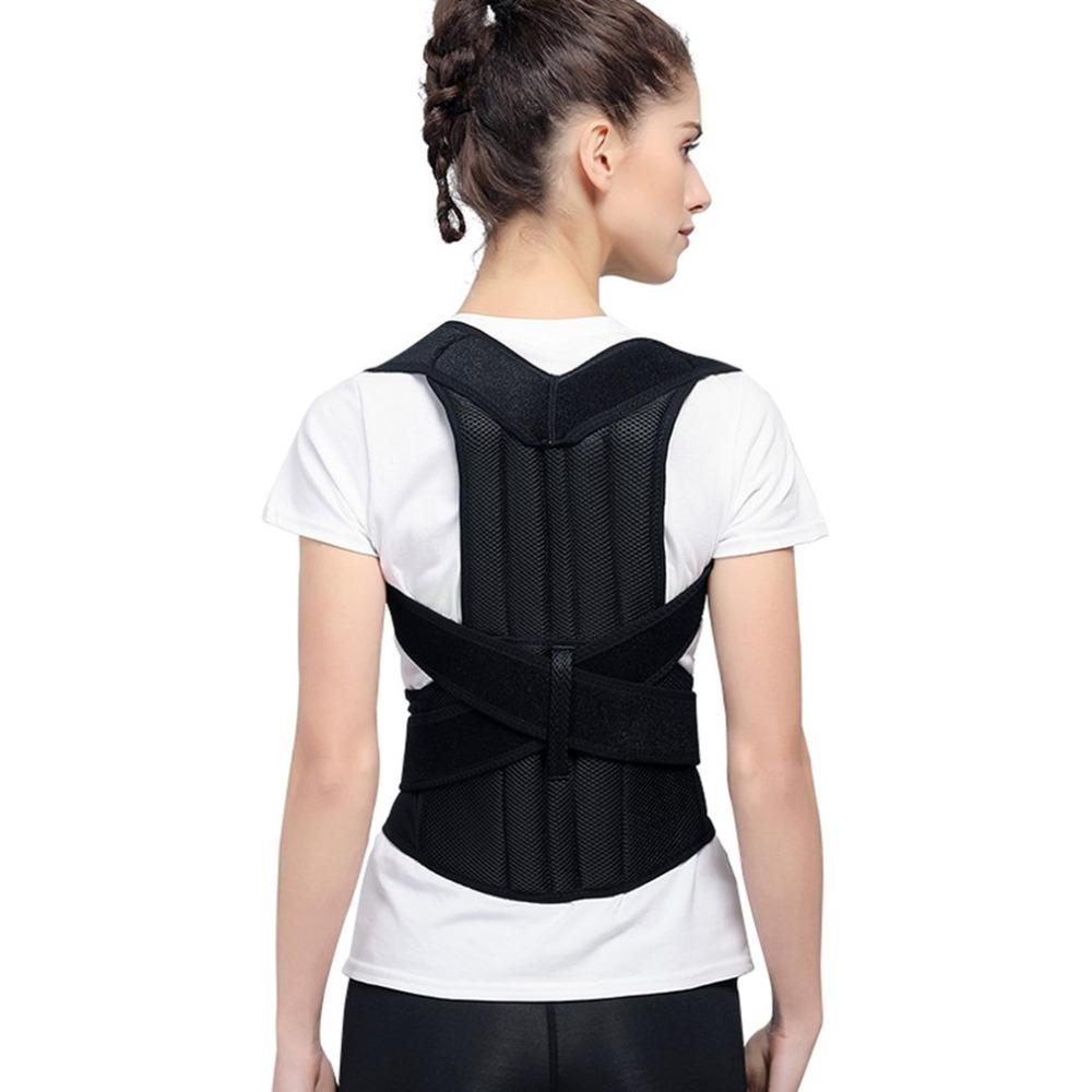 a9d82d7572 2019 New Back Posture Corrector Shoulder Lumbar Brace Spine Support Belt  Adjustable Adult Corset Posture Correction Belt Body Health From  Yiquanwater