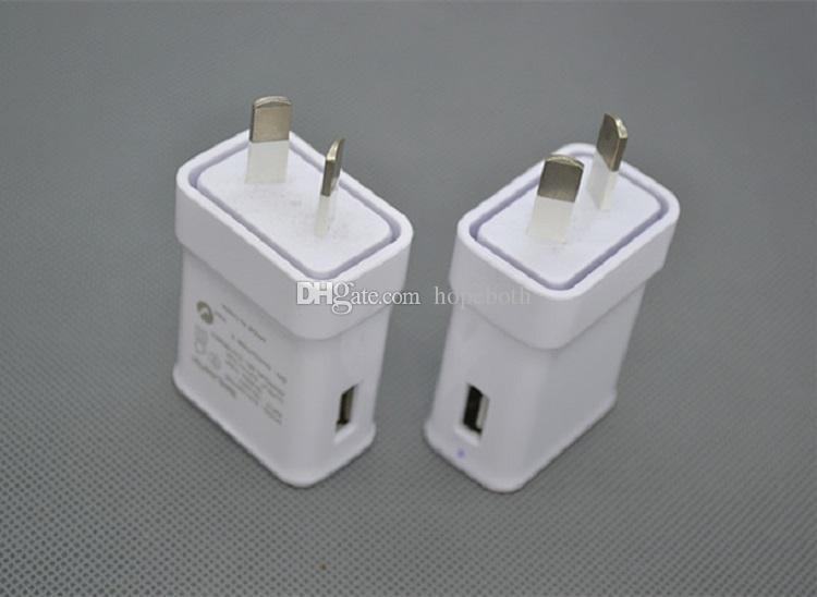 Puertos USB Cargador de corriente de pared Adaptador de CA AU Plug para Samsung Galaxy S6 S5 Note 4 3 Mobile Phone Tab ipad