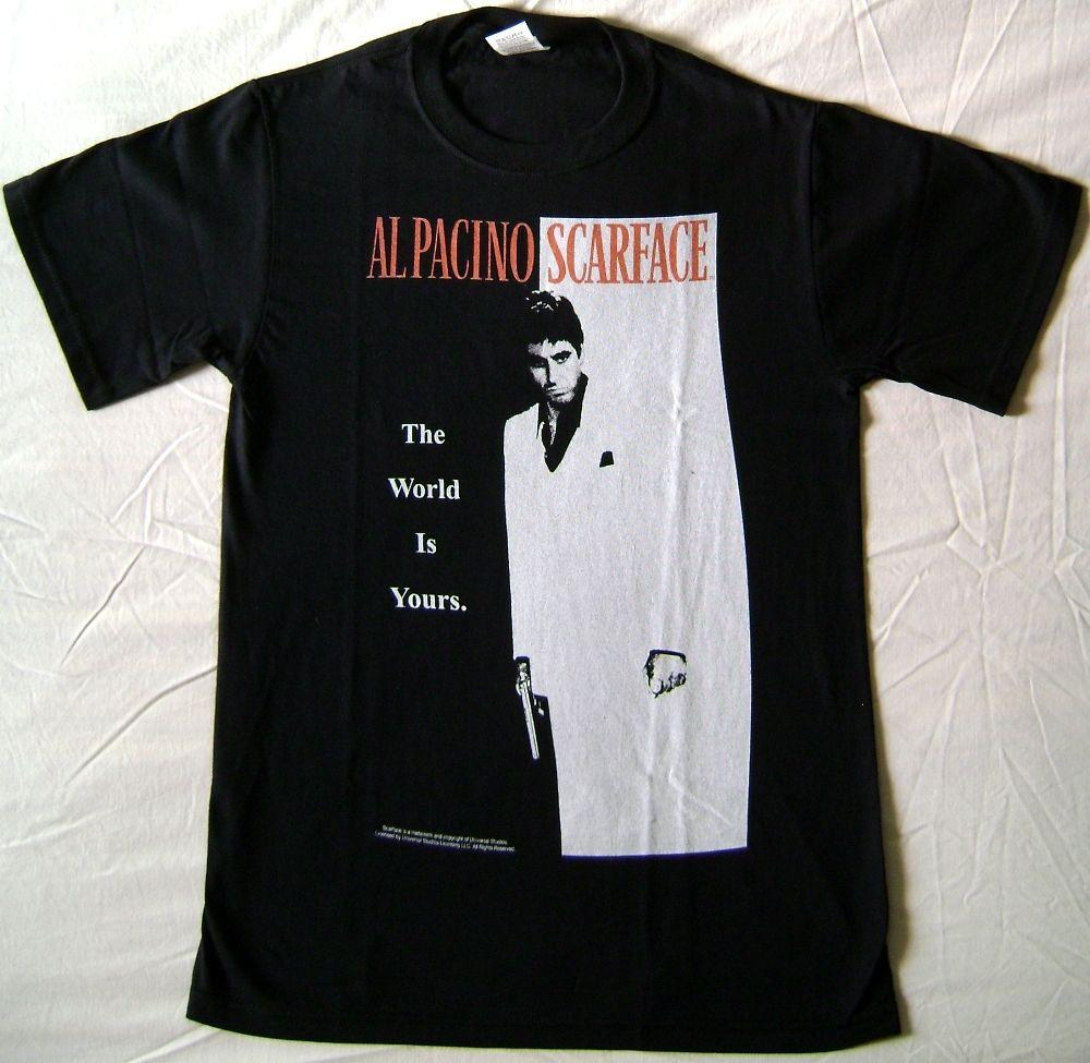 0a64175c T-shirt Scarface Poster Tony Montana Al Pacino Maglia Black Uomo Ufficiale  Summer Casual Man T Shirt Good Quality Top Tee Online with $30.94/Piece on  ...
