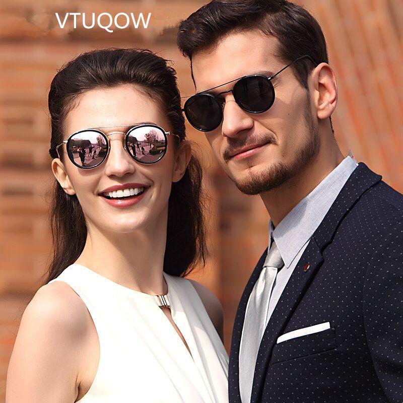 8d19d830dc0 2019 New Arrival Round Sunglasses Retro Men Women Brand Designer Polarized  Sunglasses Couple Vintage Coating Oculos De sol UV400