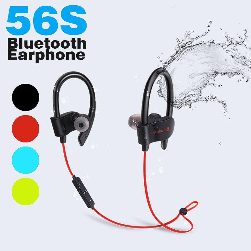 Telefoni Offerta Auricolare Bluetooth 56S Sport 4.1 Auricolare Wireless  Auricolare Logo Personalizzato IOS Android Cuffie In Ear Bluetooth Da Nfll d652096d8012