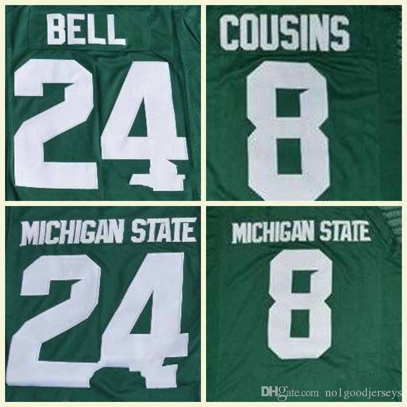 ecfdc0e030b NCAA MEN Michigan State Spartans 24 LeVeon Bell Green Limited White ...