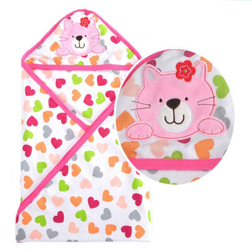 2019 Pink Cat Baby Splash Wrap Bath Hooded Towel Robe From Sugarher