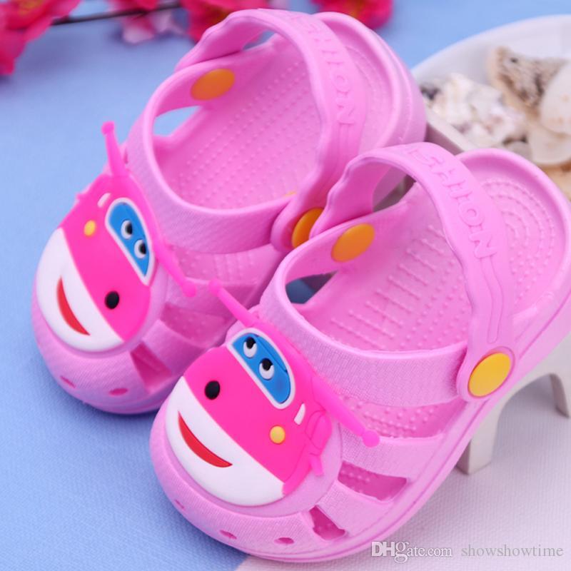 Summer Baby Shoes Kids EVA Cartoon Car Sandals Breathable Garden Shoe Baby Boy Girl Beach Wear Sandals