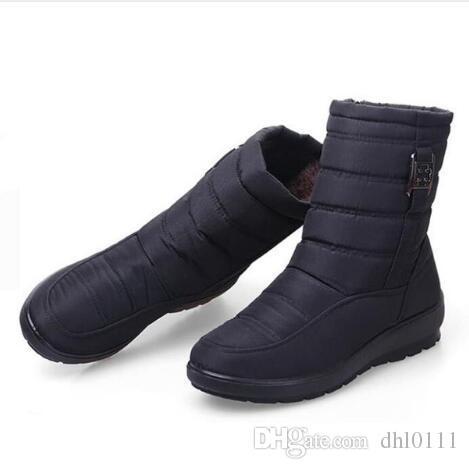 73363fe2479 Compre 2018 Botas De Nieve Para Mujer Moda Mujeres Botas De Invierno  Zapatos De Madre Antideslizantes Impermeables Mujeres Flexibles Botas  Informales Más ...