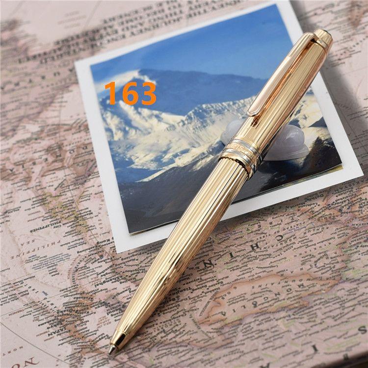 Grado superior pluma de lujo de la marca MB líneas de oro de metal bolígrafos / Rollerball pen ag925 estacionaria bolígrafos de regalo