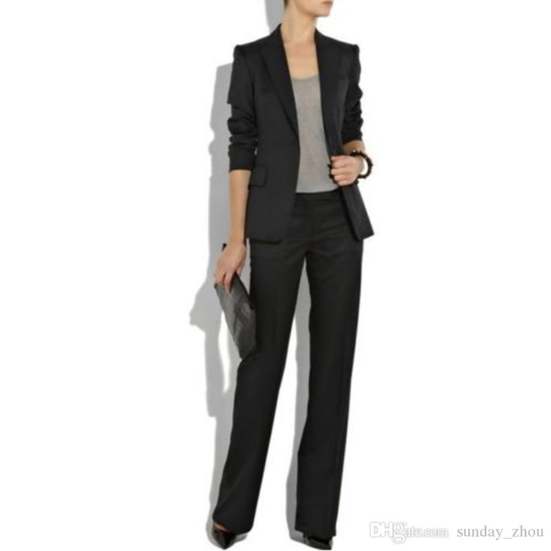 4c9eead6cbb 2019 Customized New Black Lapel Ladies West Slim Body Fashion Women S Dress  Suit Overalls Business Office Dress From Sunday zhou