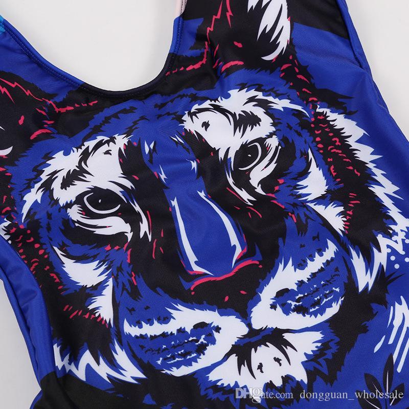 Swimsuit Bodysuit One Piece Swimwear Women 2018 Sexy Animal Monokini Brazilian Summer Beachwear One Piece Swim Suit Bathing Suit