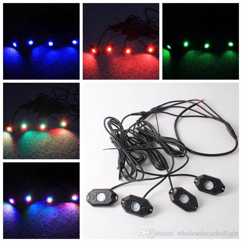 785a6db5e1b5e6 2019 RGB LED Rock Light Kits With Bluetooth & Cell Phone Control Color Grad  Multicolor Neon Lights Under Off Road Truck SUV Car Boat From ...