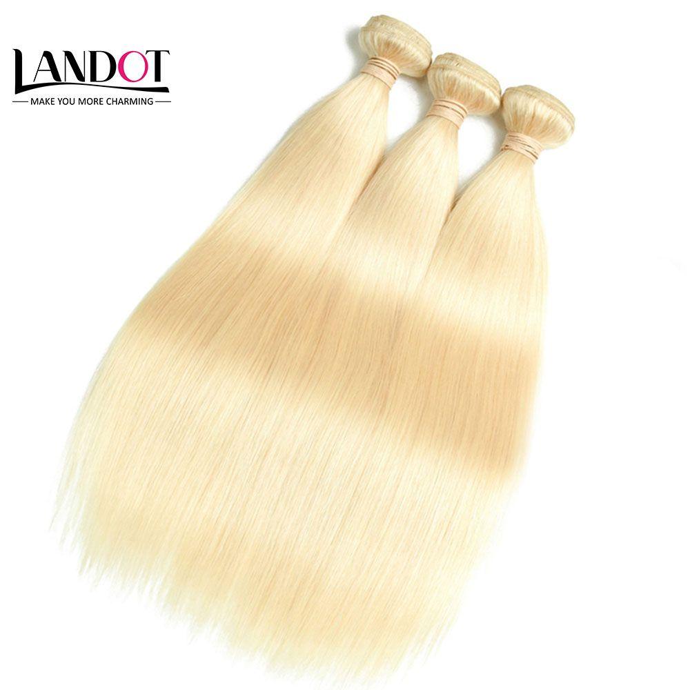 Il la cosa migliore 10A capelli vergini brasiliani dell'onda diritta del corpo 1KG tessuto peruviano dei capelli umani malesi indiani dei fasci candeggina biondo 613 # Brown 2 # / 4 # / 6 # / 8