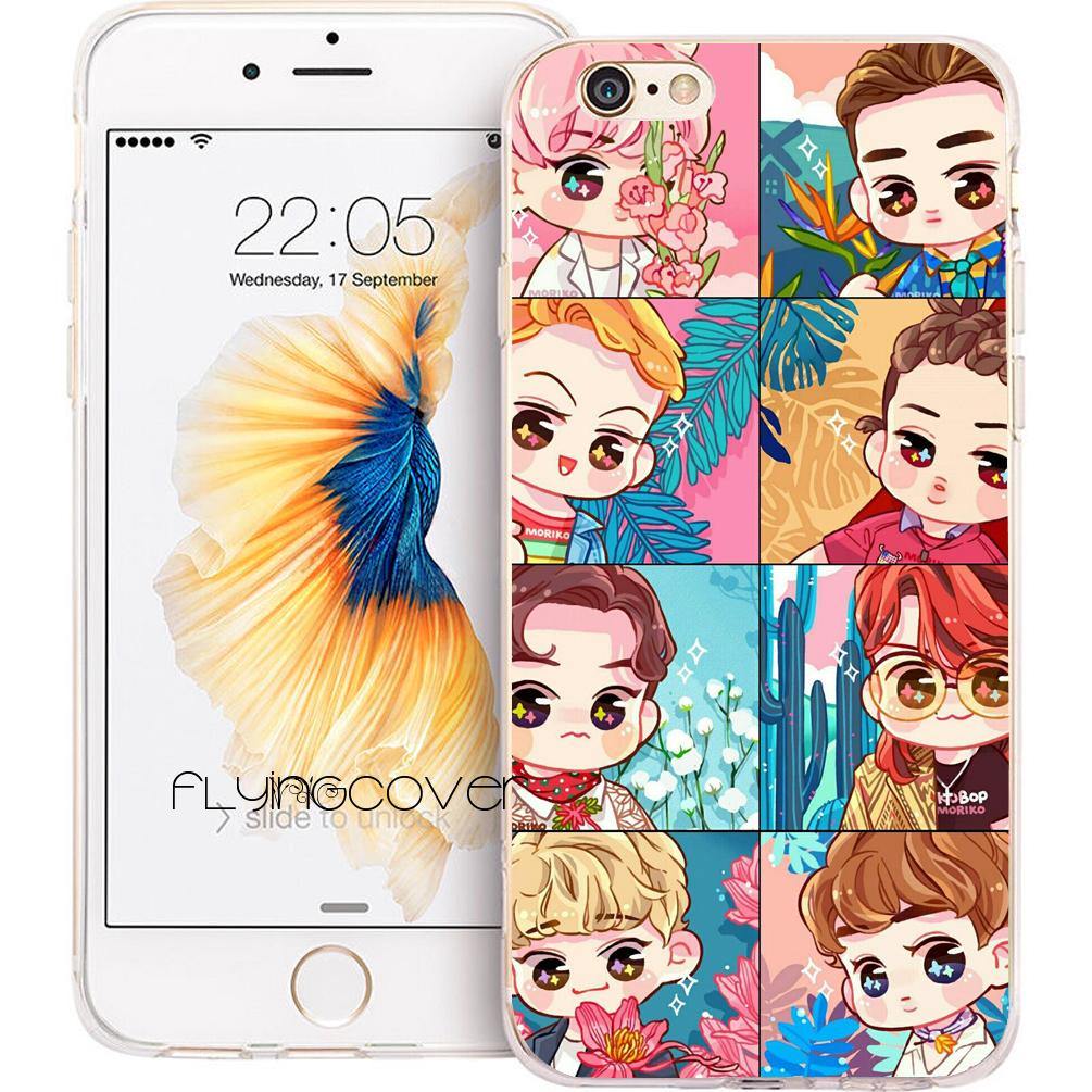 fundas exo fashion kpop cases for iphone 10 x 7 8 plus 5s 5 se 6 6sfundas exo fashion kpop cases for iphone 10 x 7 8 plus 5s 5 se 6 6s plus 5c 4s 4 ipod touch 6 5 clear soft tpu silicone cover customized cell