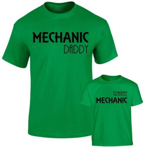 b28ee7e49 Mechanic Daddy And Trainee Mechanic Father Son Daughter Family Matching T  Shirts Funny Unisex Casual Tee Gift Comedy T Shirt Humorous T Shirt From ...