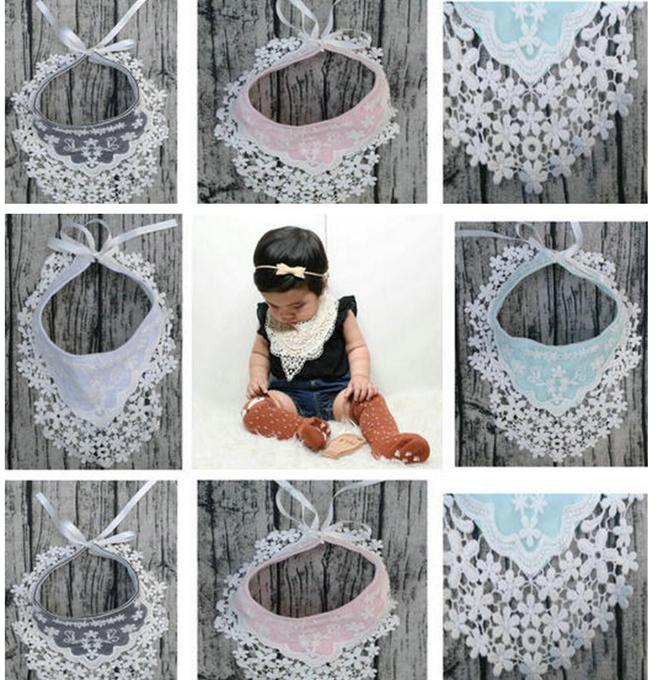 2018 Ins Baby Girl Princess Lace Crocheted Bibs Infant Toddlers Tpu